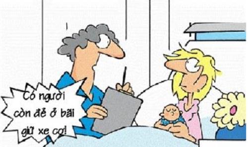 Truyện cười y khoa: Tiến bộ của một sản phụ
