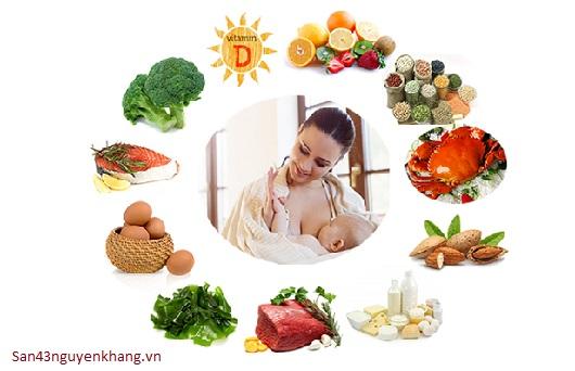 Dinh dưỡng cho sản phụ sau sinh hợp lý