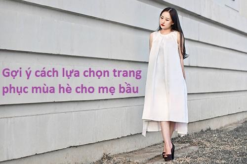 Gợi ý cách lựa chọn trang phục mùa hè cho mẹ bầu